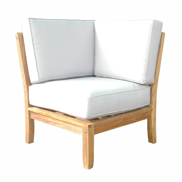 Dustin Teak Patio Chair with Sunbrella Cushions by Longshore Tides