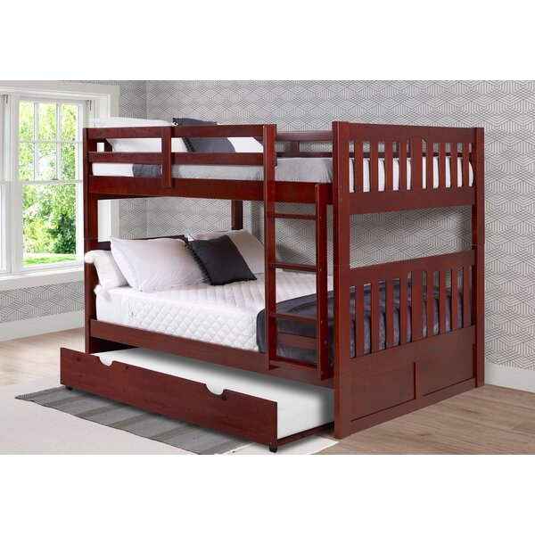 Dubbo Full Over Full Bunk Bed with Trundle by Harriet Bee