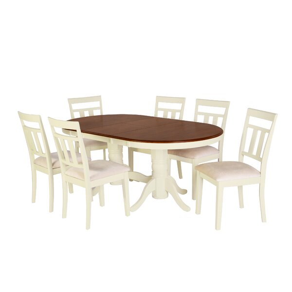 Alvy 7 Piece Solid Wood Dining Set By August Grove