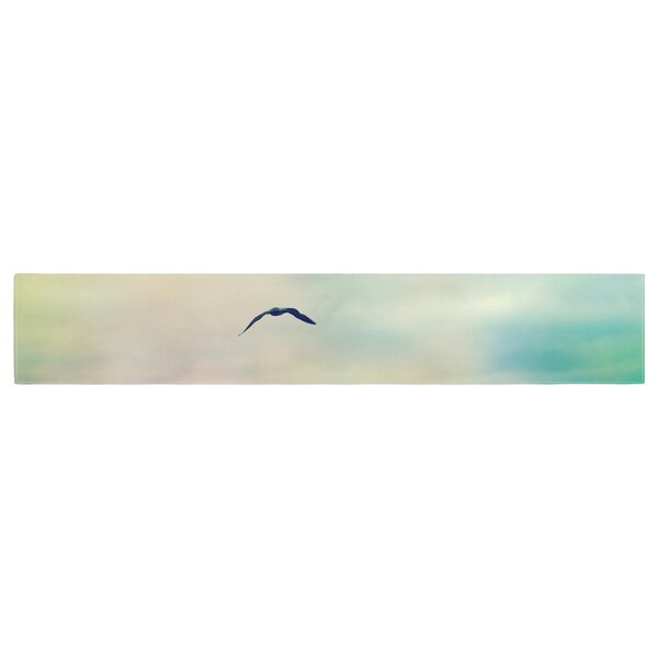 Sylvia Cook Freedom Birds Sky Table Runner by East Urban Home