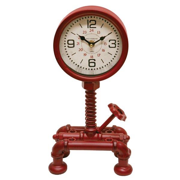 Pressure Gauge Tabletop Clock by Breakwater Bay