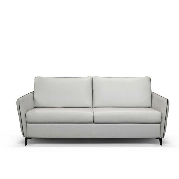 Monreal Leather Sofa Bed by Latitude Run