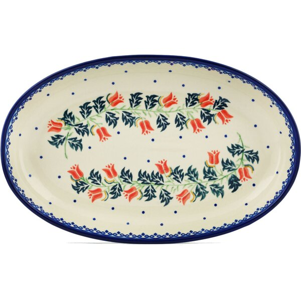 California Poppies Oval Platter by Polmedia