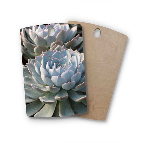 Suzanne Carter Birchwood Succulent Love Cutting Board by East Urban Home
