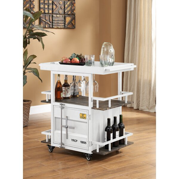 Kaylyn Container Serving Bar Cart by Longshore Tides Longshore Tides