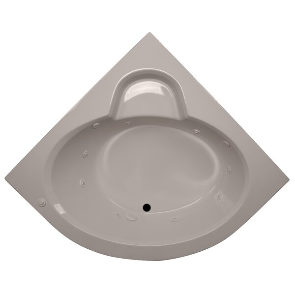 60 x 60 Round Front Corner Soaking Tub by American