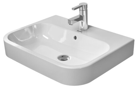 Happy D.2 Washbasin Ceramic 24 Console Bathroom Sink with Overflow by Duravit