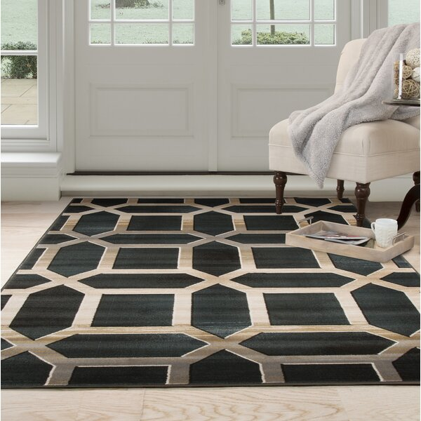 Art Deco Teal Area Rug by Plymouth Home