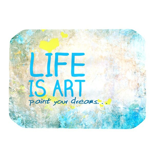 Life Is Art Placemat by KESS InHouse