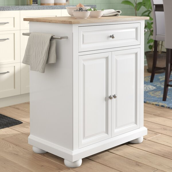 Modern Hedon Kitchen Cart By Three Posts Coupon