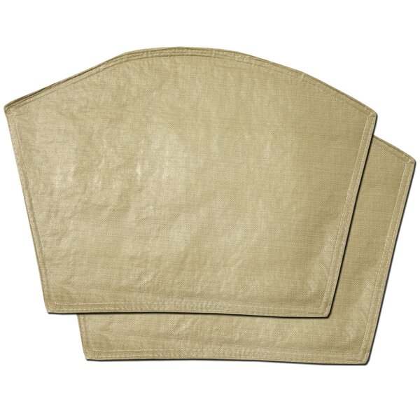 Makenzie Restaurant Quality Heavyweight Vinyl Wedge Placemat (Set of 2) by Gracie Oaks