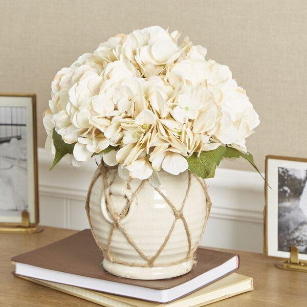Faux Hydrangea in Twine-Wrapped Vase by Birch Lane™