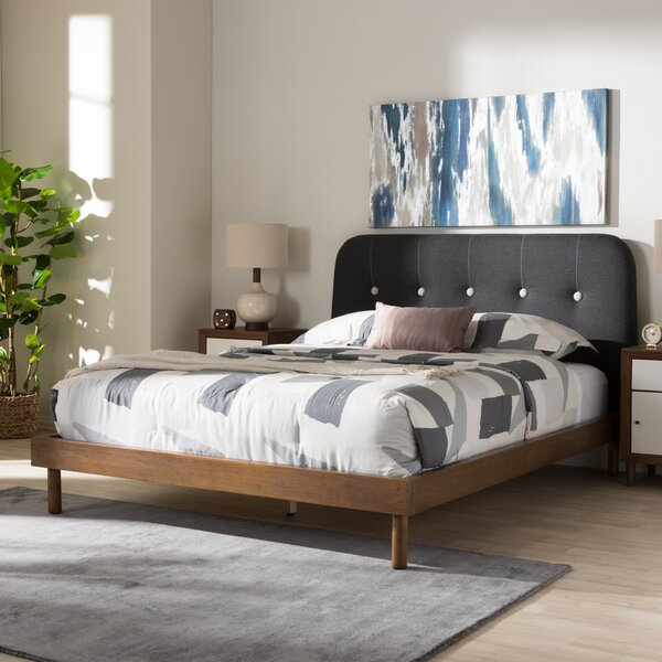 Bibb Upholstered Standard Bed by Brayden Studio