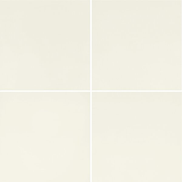 Refinery 24 x 24 Porcelain Field Tile in Chalk by PIXL