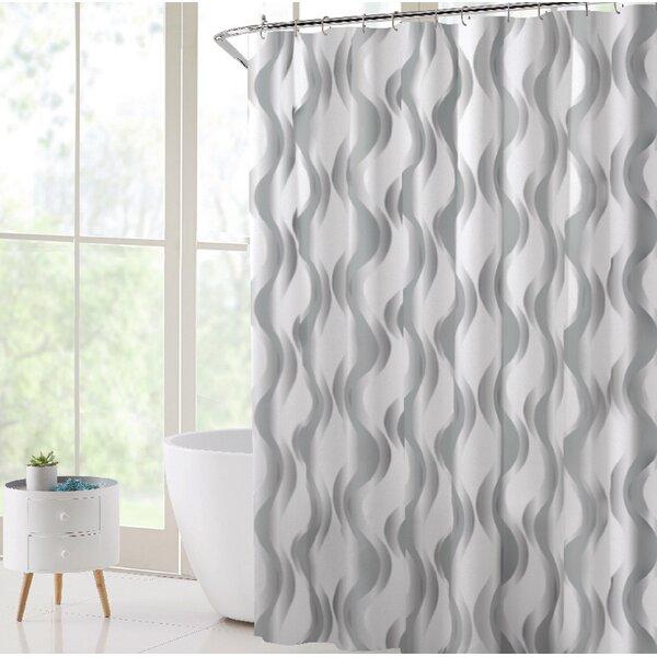 Orren Ellis Gungnir Vinyl Abstract Shower Curtain Liner Wayfair