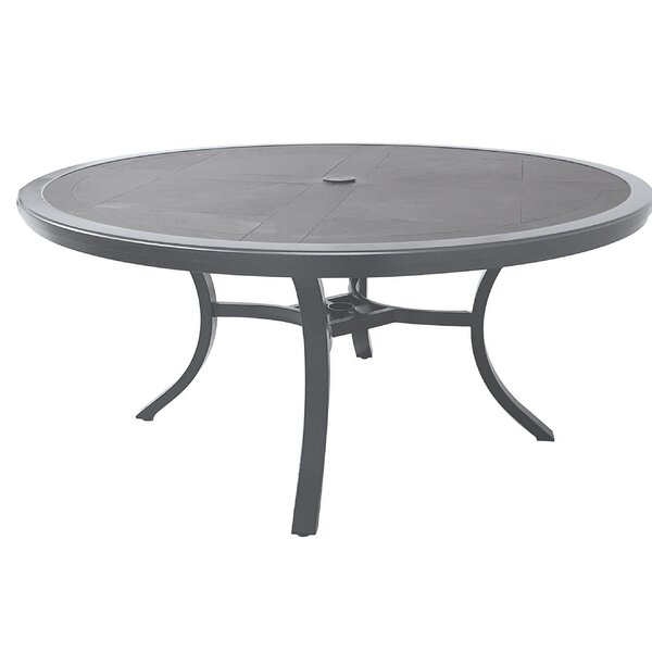 Anselmo Stone/Concrete Dining Table by Canora Grey