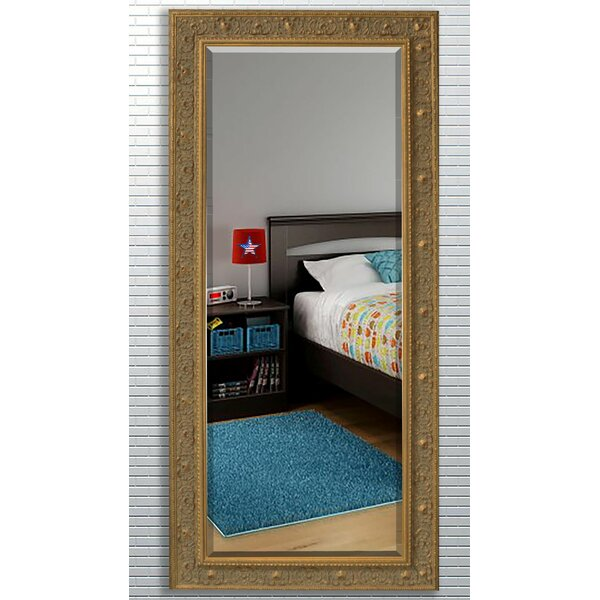 Wood Frame Beveled Wall Mirror