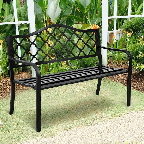 Morris Patio Garden Bench By Alcott Hill by Alcott Hill Coupon
