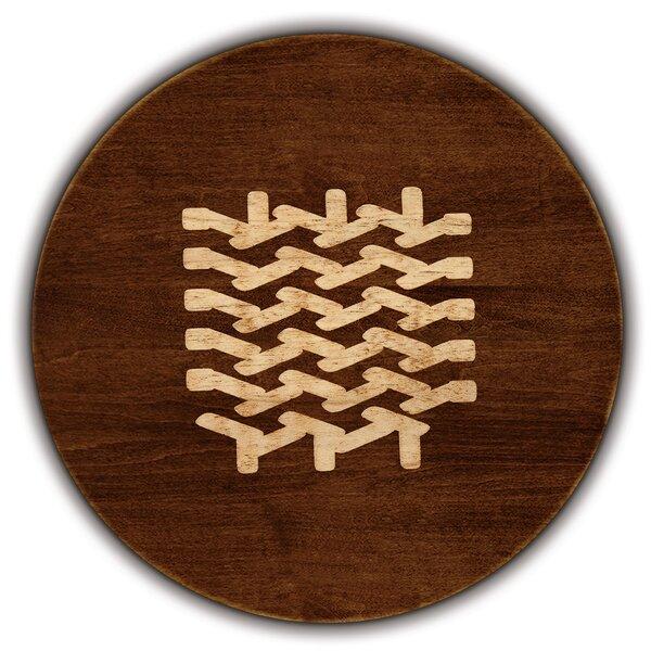 Artisan Woods Chevron Knit Round Serving Platter by Martins Homewares