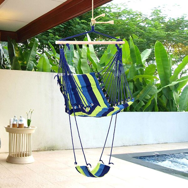 Deleon Hanging Rope Swing Chair Hammock By Bay Isle Home