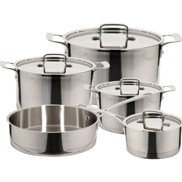 Inoxia 9 Piece Stainless Steel Cookware Set by Magefesa