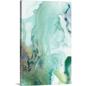 'Mint Bubbles III' Print on Canvas by Wrought Studio