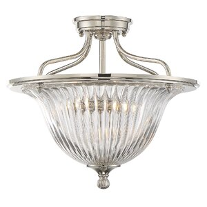 Carnot 3-Light Semi Flush Mount