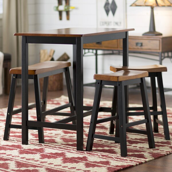 Kerley 4 Piece Dining Set by Loon Peak