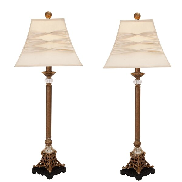 Urban Designs London Pillars Buffet 29 Table Lamp (Set of 2) by EC World Imports