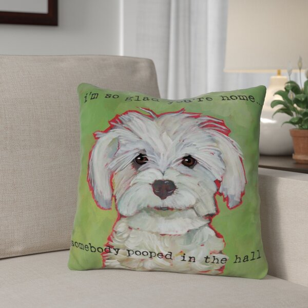 Jarmon Somebody Pooped Throw Pillow by Winston Porter