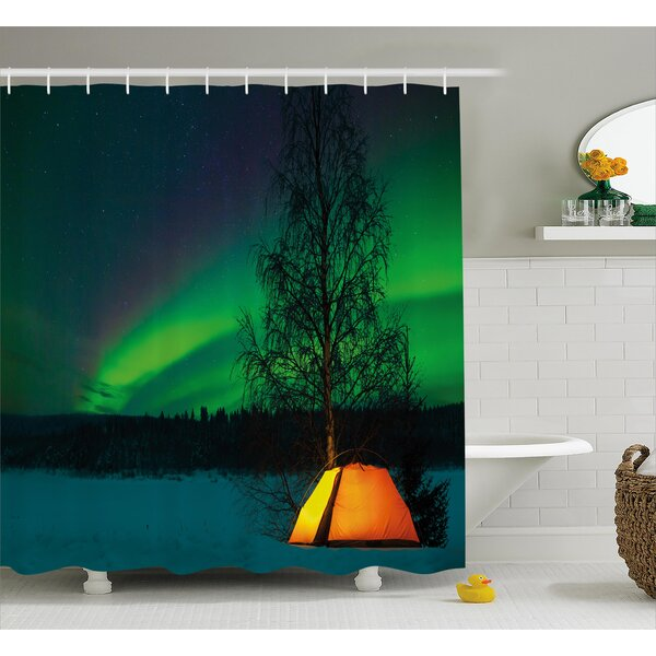 Camping Under Magnetic Field Shower Curtain by East Urban Home