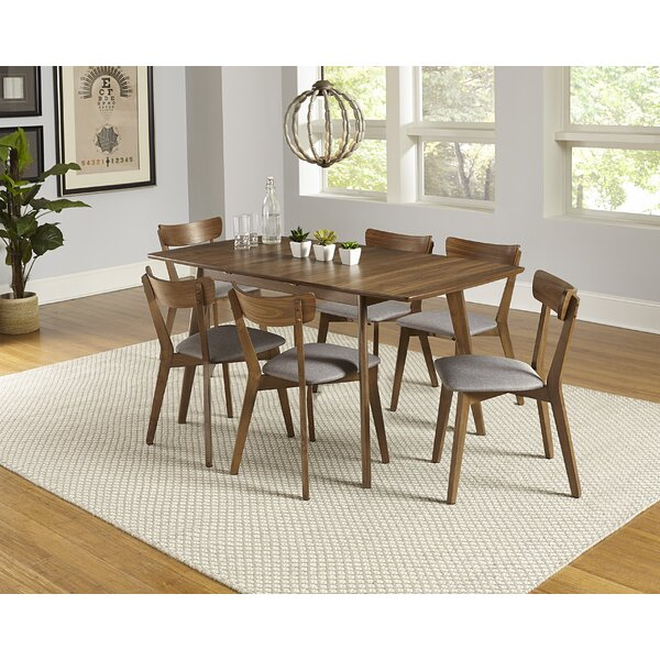 Rockaway 7 Piece Extendable Solid Wood Dining Set by Bungalow Rose Bungalow Rose
