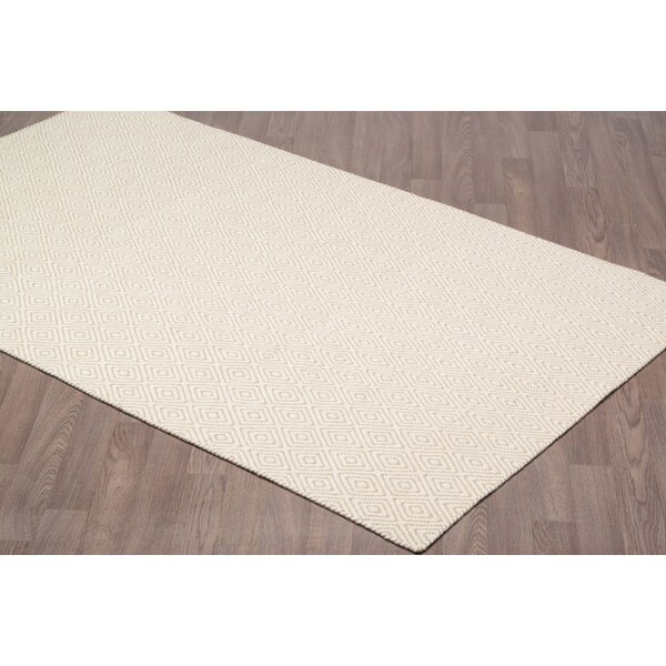 Little Italy Diamond Reversible Hand Woven Wool Ivory/Beige Area Rug by Brayden Studio