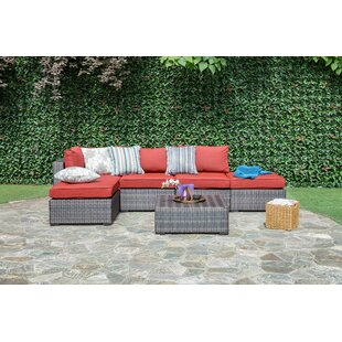 Lara 6 Piece Rattan Sectional Set with Cushions By Brayden Studio