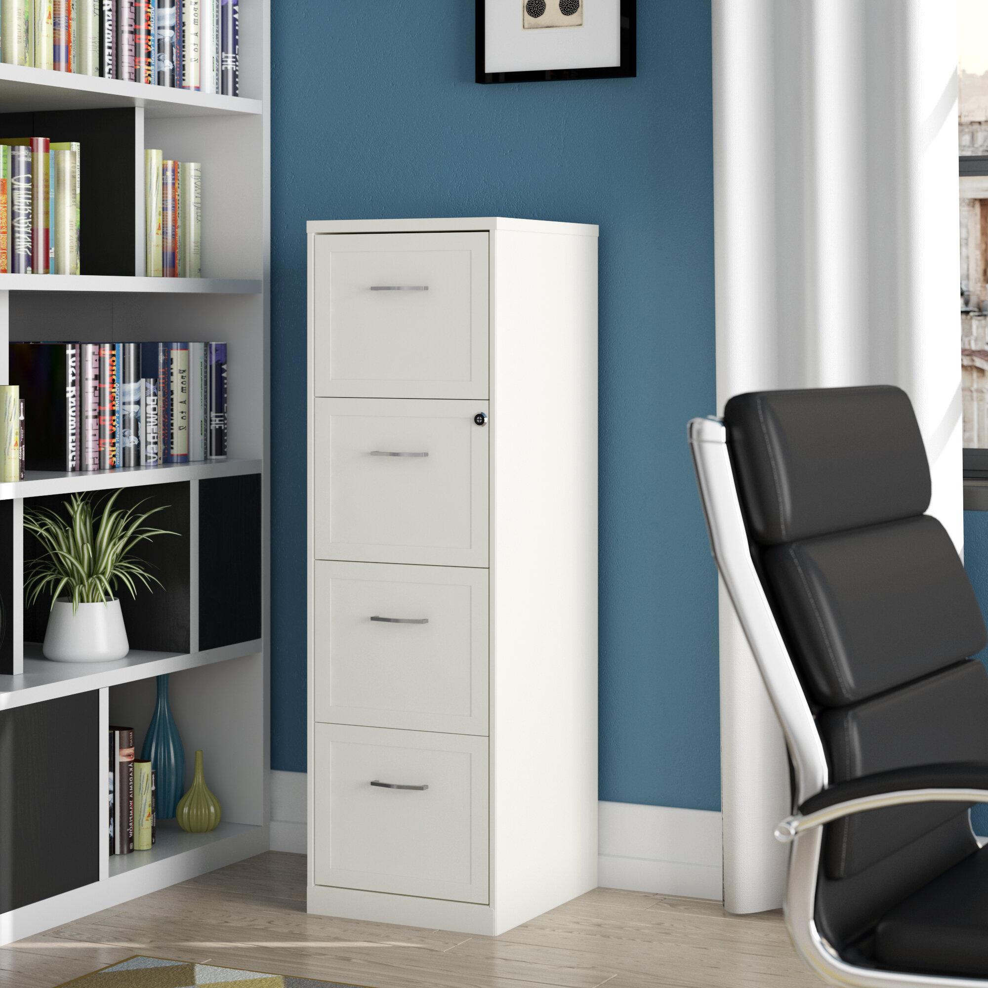 Ebern Designs Cavitt 4 Drawer Vertical Filing Cabinet & Reviews ...