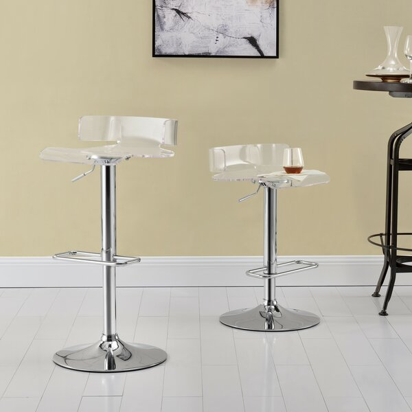 Coppage Adjustable Height Bar Stool (Set of 2) by Orren Ellis