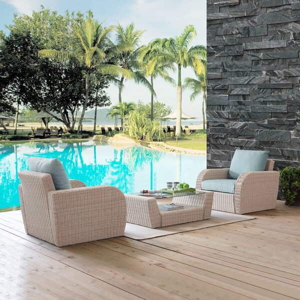 Balbo 3 Piece Seating Group with Cushions by Ivy Bronx Ivy Bronx