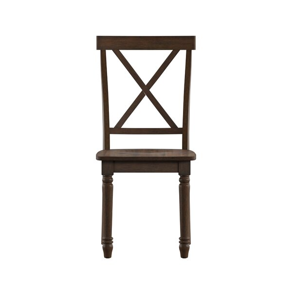 Petrucci X-Back Solid Wood Dining Chair (Set of 2) by Alcott Hill