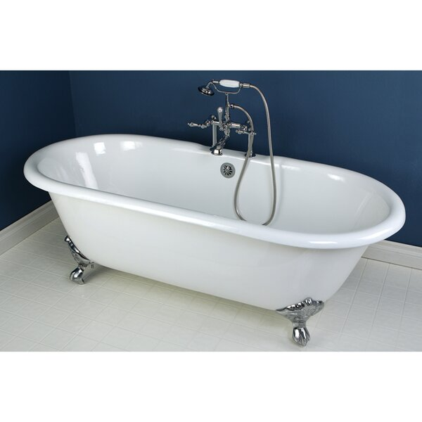 Aqua Eden 66 x 30 Freestanding Soaking Bathtub by Kingston Brass