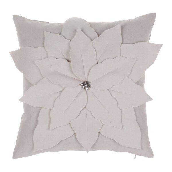 Poinsettia Throw Pillow by 14 Karat Home Inc.