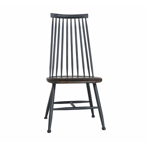 Metal Windsor Back Side Chair in Walnut (Set of 4) by ERF Inc. ERF Inc.