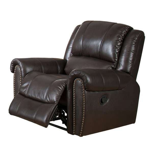 Charlotte Leather Manual Recliner by Amax
