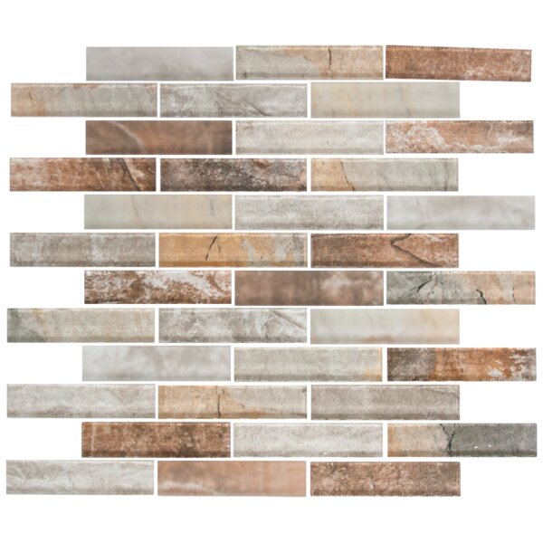 Umber Random Sized Glass Mosaic Tile in Gray/Brown by Susan Jablon