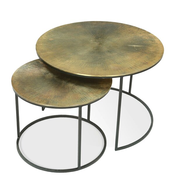 Portia 2 Piece Nesting Tables by 17 Stories