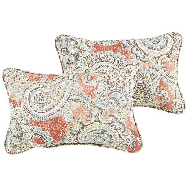 Lebaron Paisley Indoor/Outdoor Lumbar Pillow (Set of 2) by Three Posts