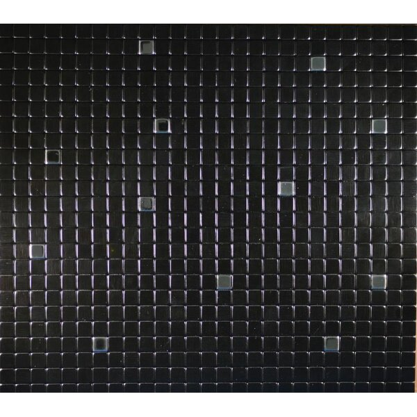 11.38 x 11.38 Metal Peel & Stick Mosaic Tile in Galaxy by FLEXIPIXTILE