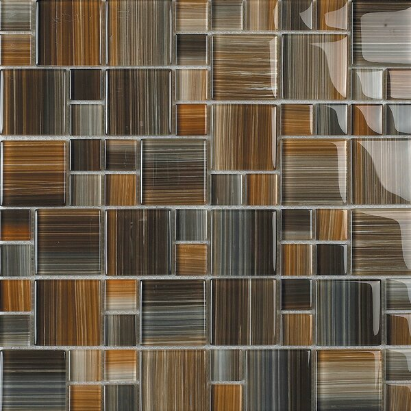 Contempo Jacobs Random Sized Glass Mosaic Tile in Multi by Epoch Architectural Surfaces