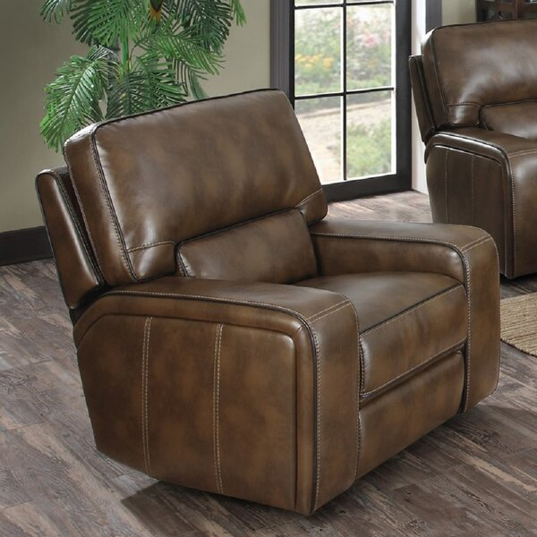 Rowlett Leather Power Recliner Chair [Red Barrel Studio]