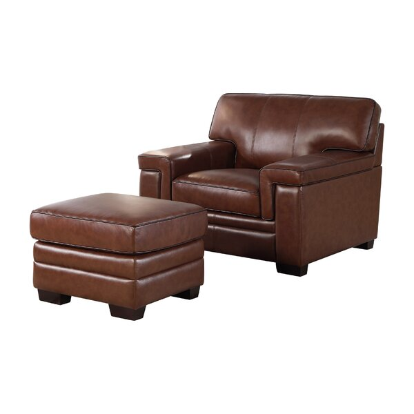 Cabott Armchair and Ottoman (Set of 2) by Three Posts
