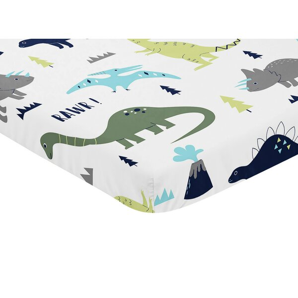 Mod Dinosaur Fitted Mini Crib Sheet by Sweet Jojo Designs